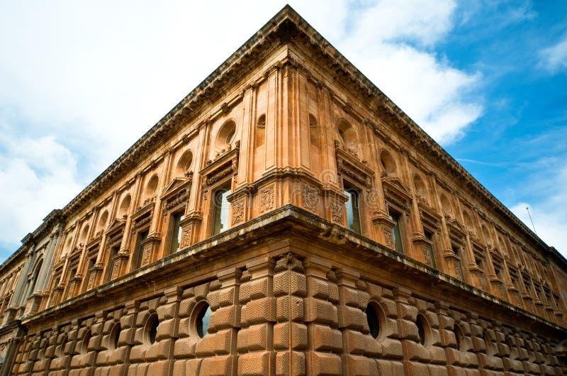 Alhambra kasteel in Granada royalty-vrije stock afbeeldingen