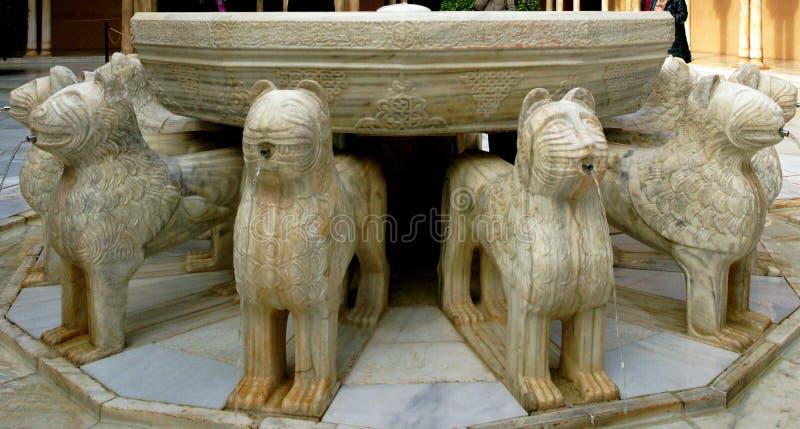 Alhambra Lions image stock
