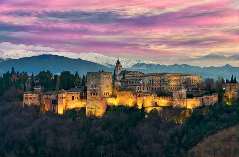 Alhambra majestuosa imagen de archivo libre de regalías