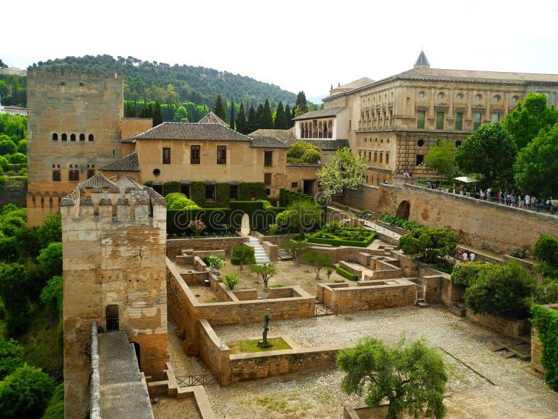 Alhambra, moorish kasztel Granada, Andalusia obrazy stock