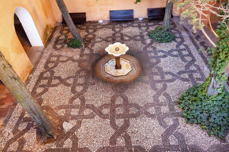 Alhambra Mosaic Fountain Garden Granada Andalusia Spain stock photos