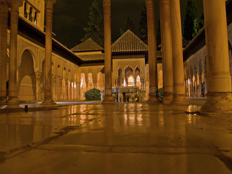 alhambra noc fotografia royalty free