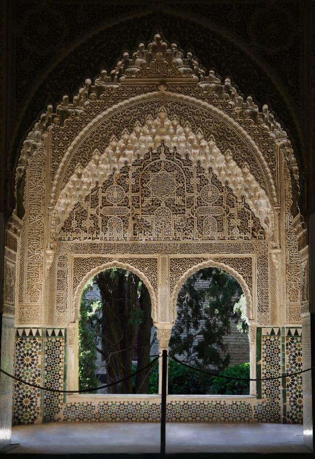 alhambra okno obraz stock