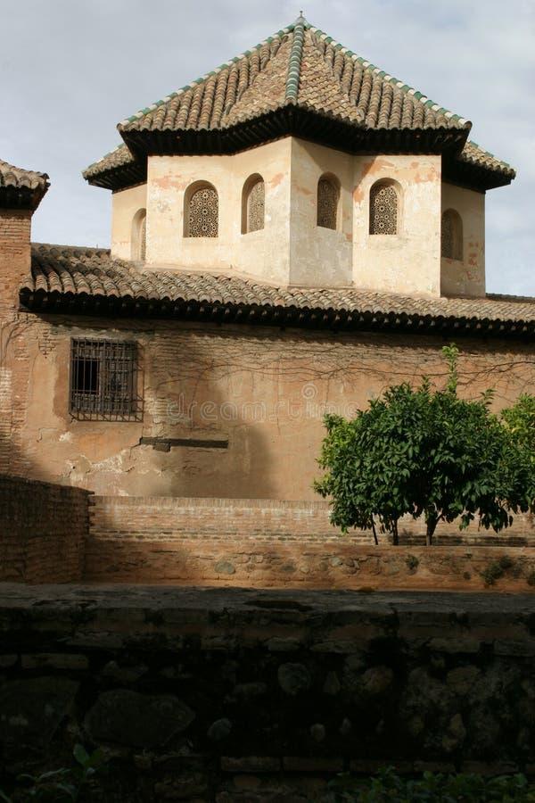 Alhambra pałac w Granada obrazy royalty free