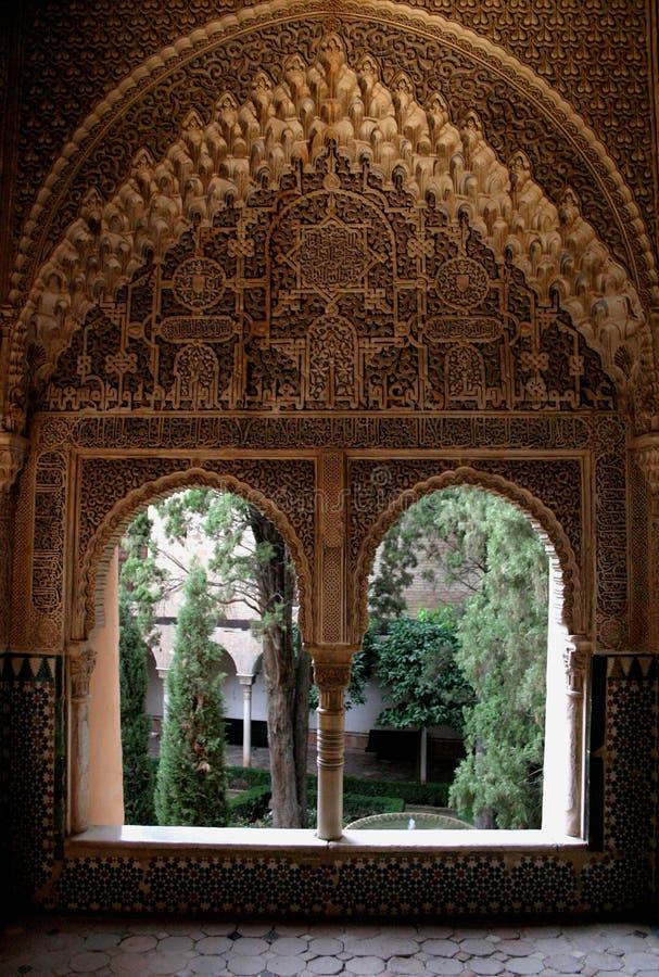 Alhambra pałac w Granada fotografia royalty free