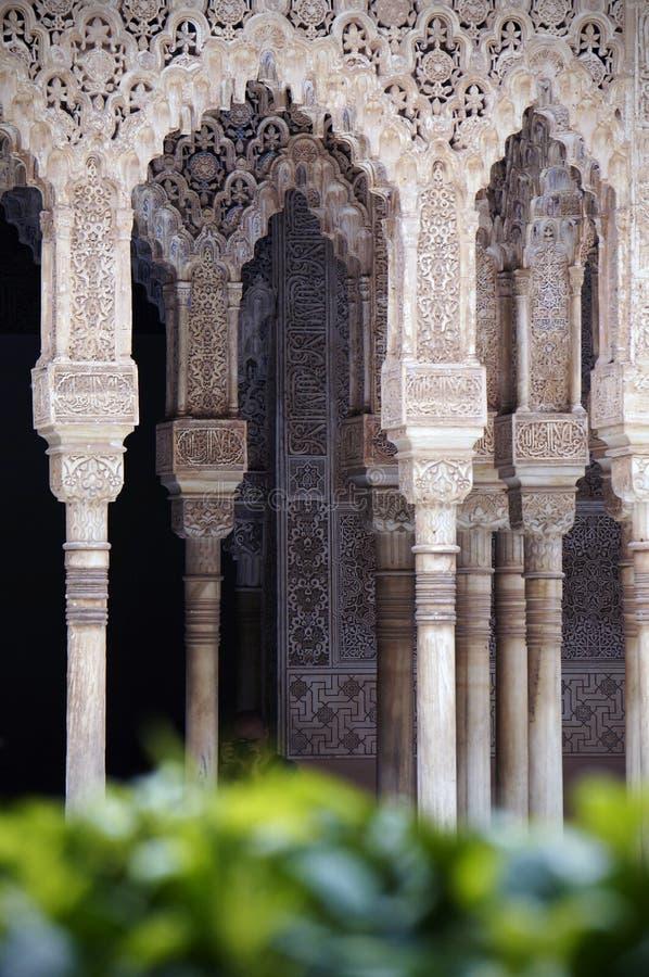 Alhambra pałac w Hiszpania, - fasada zdjęcia stock