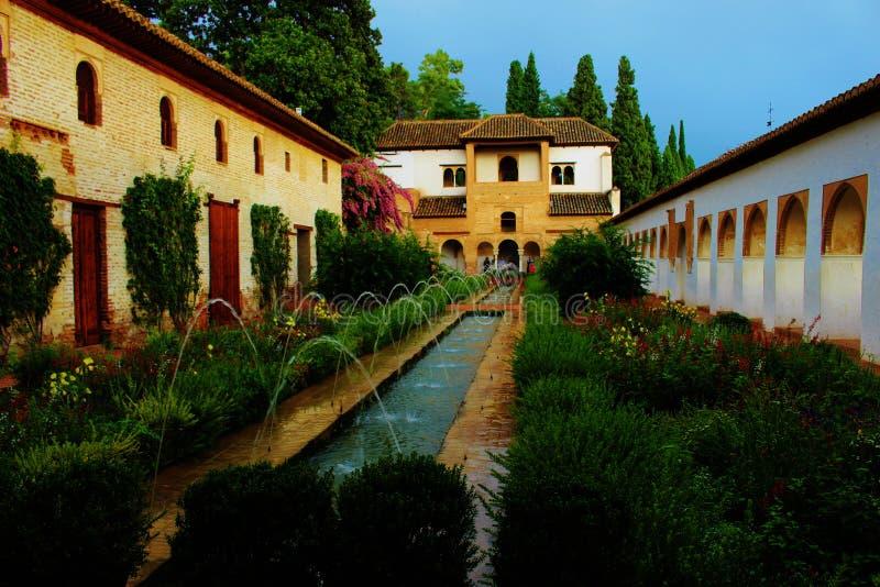 Alhambra Palace Granada stock foto