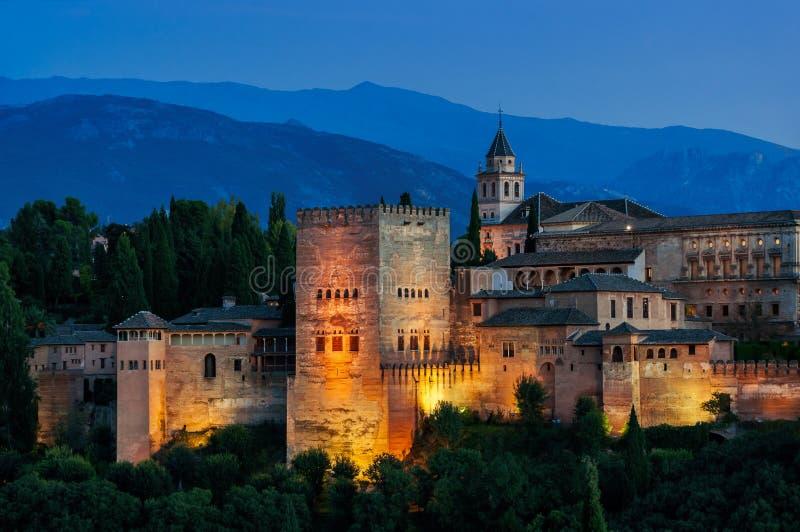 Alhambra Palace in Granada, Spain stock photos