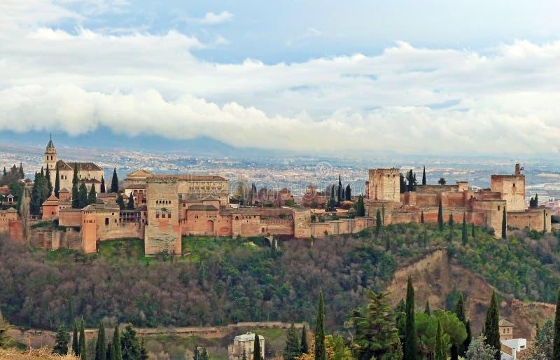 Alhambra Palace After la lluvia imágenes de archivo libres de regalías