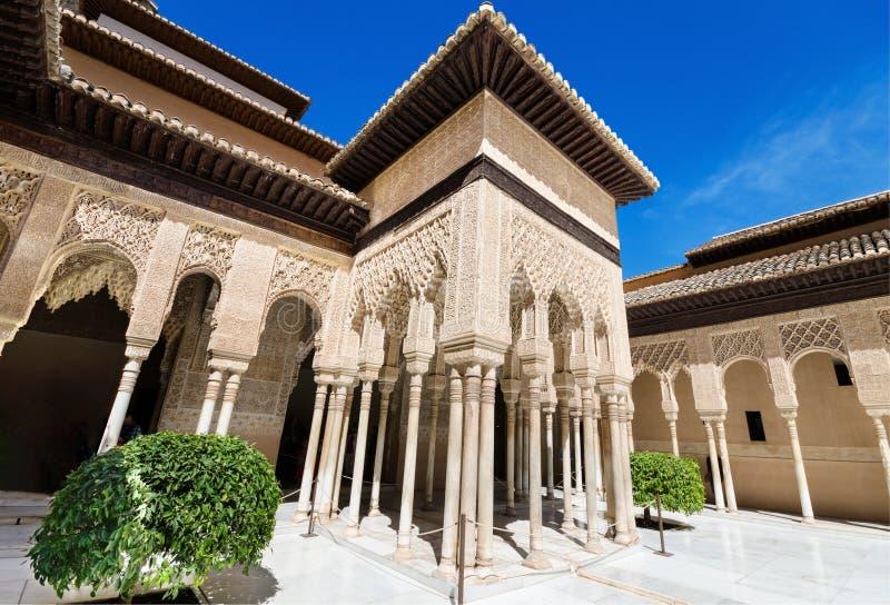 Alhambra paleis, Granada, Andalusia, Spanje royalty-vrije stock foto's