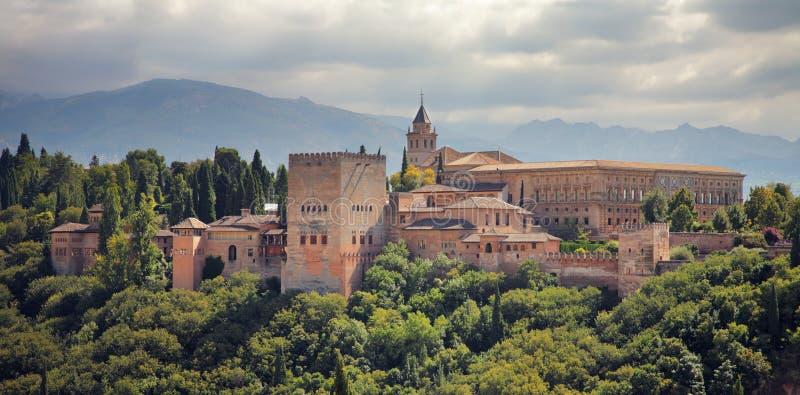 Alhambra paleis in Granada, Spanje. stock fotografie