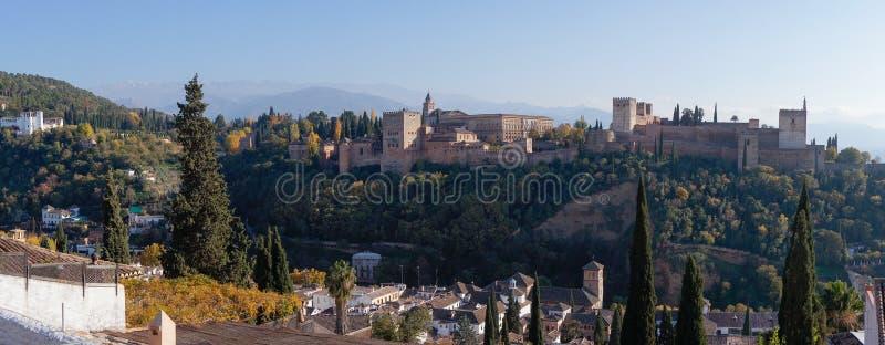 Alhambra paleis in Granada, Spanje stock afbeelding