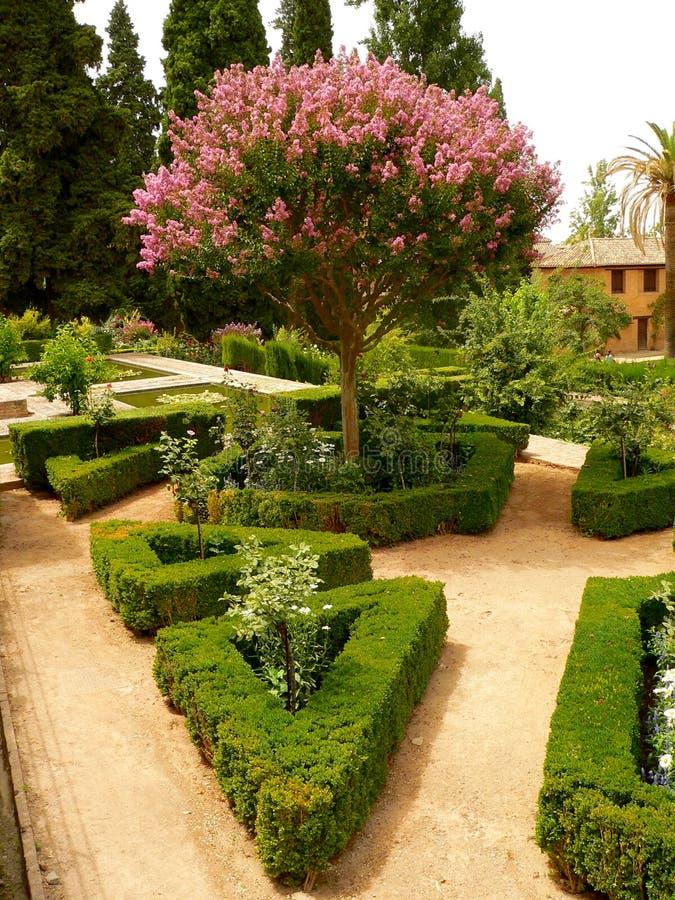 alhambra parc arkivfoto
