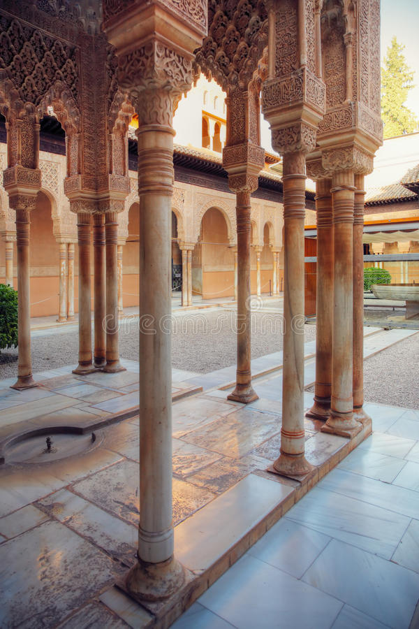 alhambra patio Granada Spain zdjęcia stock