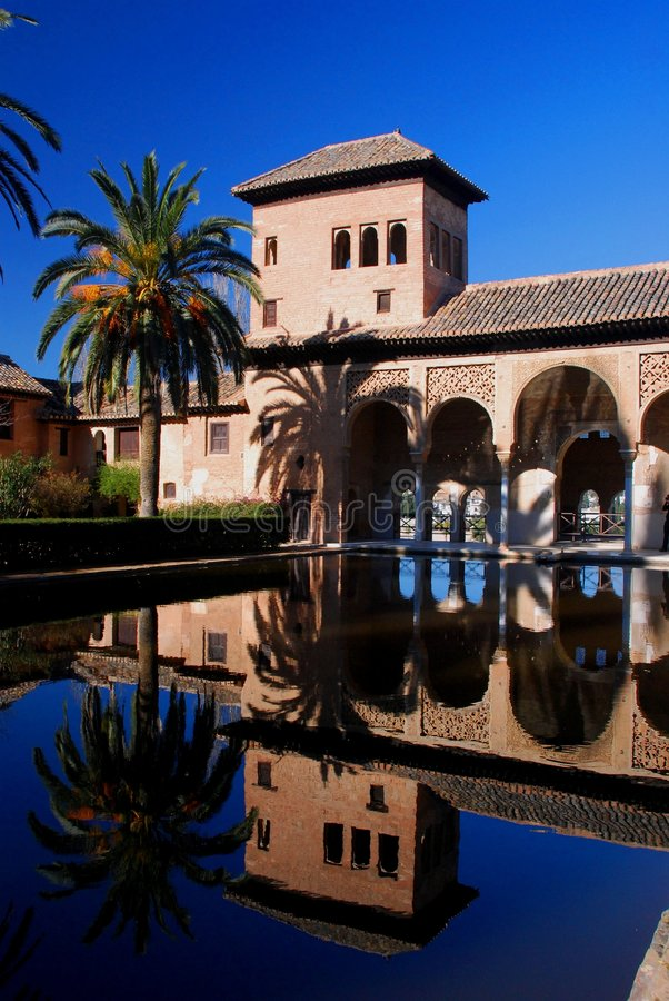 Alhambra reflection royalty free stock images