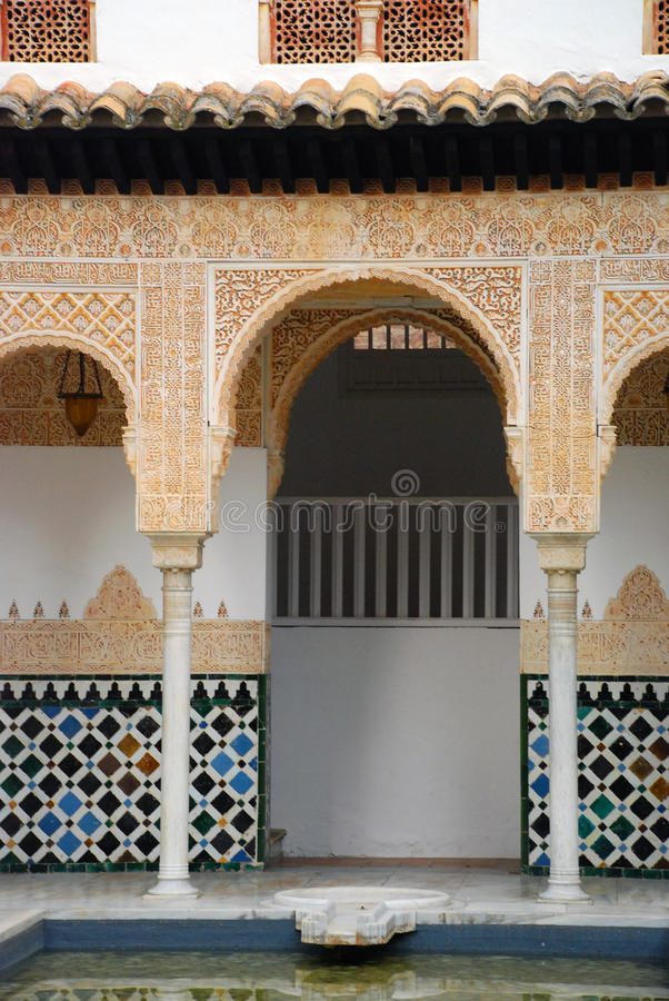 Alhambra replica, Palma de Mallorca stock afbeelding