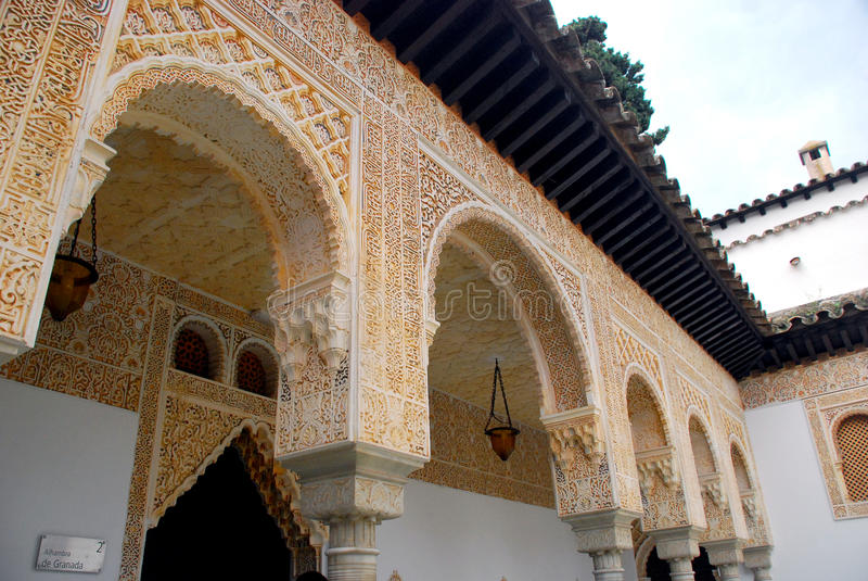 Alhambra replica, Palma de Mallorca royalty-vrije stock foto