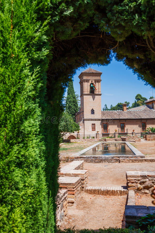 Alhambra slott, Spanien royaltyfri foto