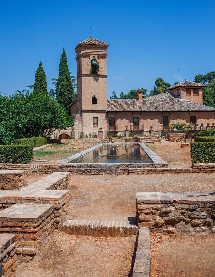 Alhambra slott, Spanien royaltyfri fotografi