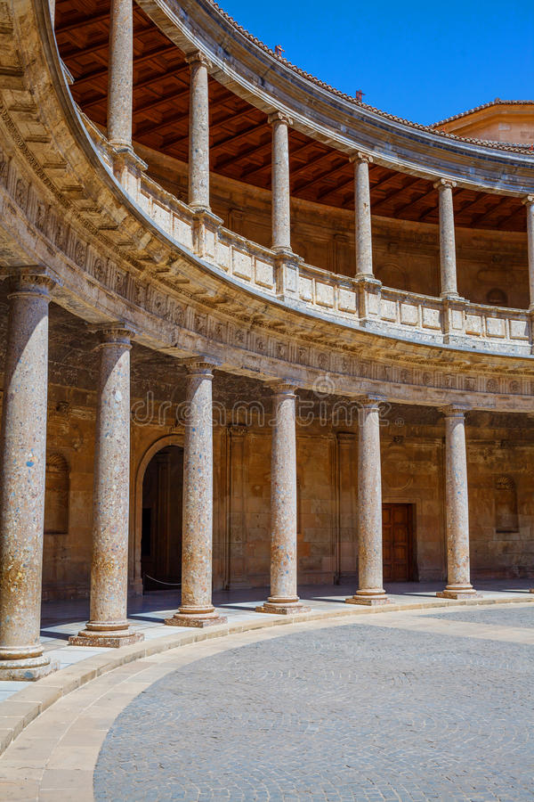 Alhambra slott, Spanien arkivfoton