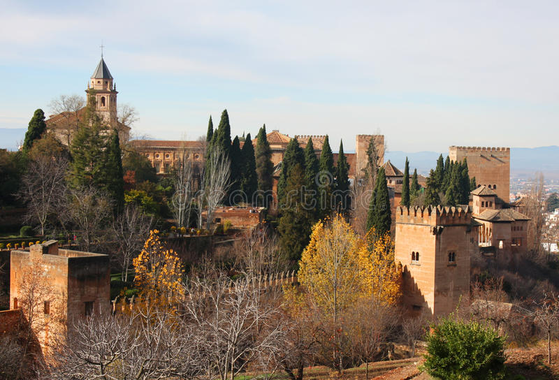 The Alhambra In Spain Royalty Free Stock Photo