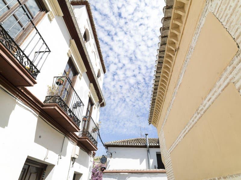 Alhambra-Stadt in Spanien April 2015 lizenzfreie stockfotos
