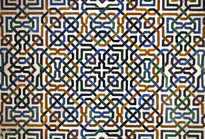 Alhambra tegeldetail royalty-vrije stock afbeeldingen