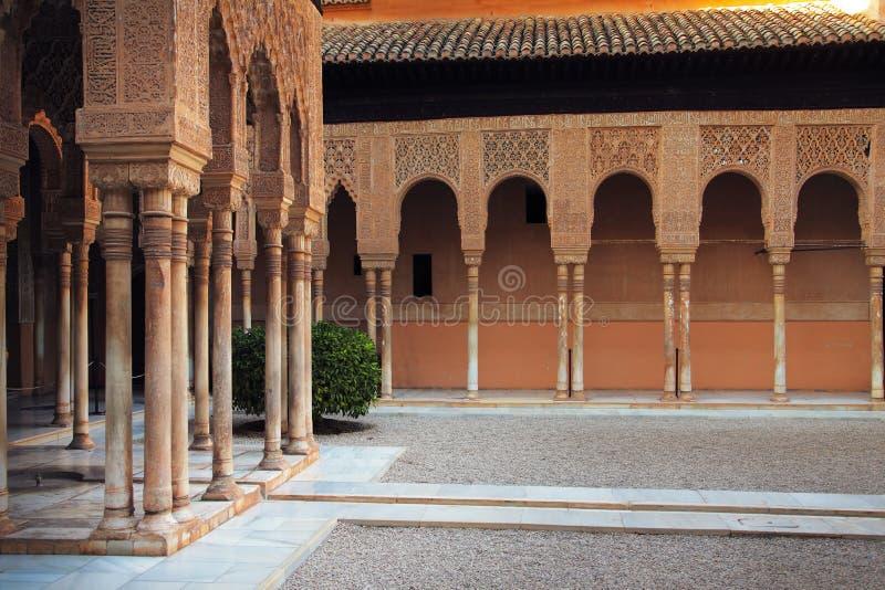 Alhambra terras stock foto