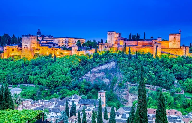 Alhambra van Granada, Andalusia, Spanje royalty-vrije stock fotografie