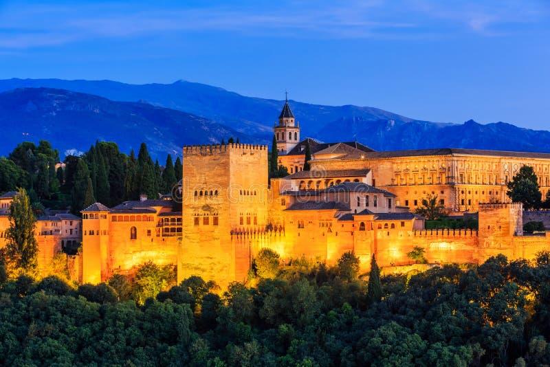 Alhambra van Granada, Spanje royalty-vrije stock afbeeldingen