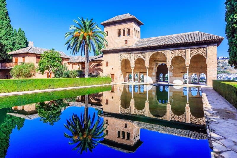 Alhambra van Granada, Spanje royalty-vrije stock afbeelding