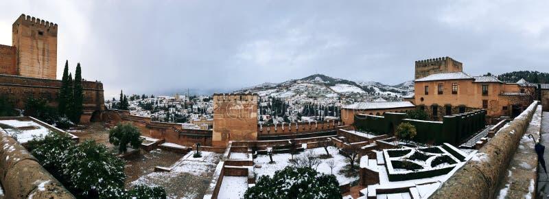 Alhambra von Granada stockfoto