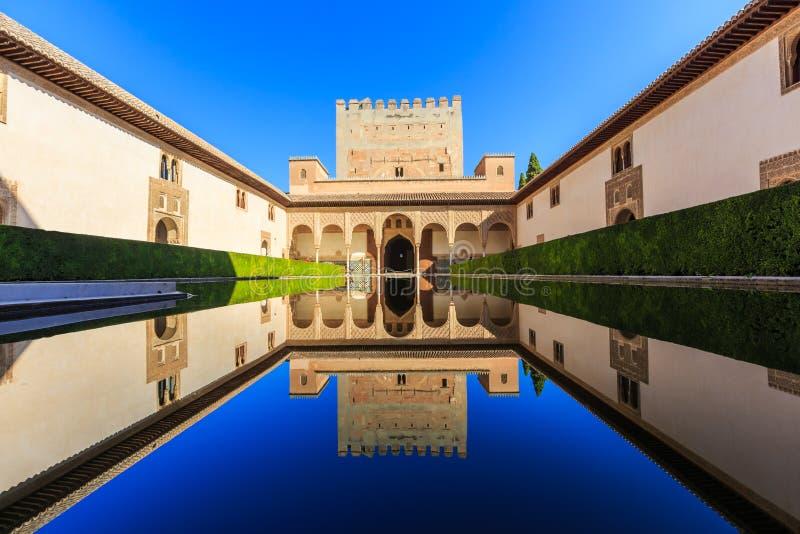 Alhambra von Granada, Spanien stockfotos