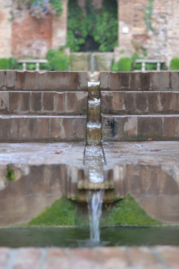 Alhambra Water-System stockbilder