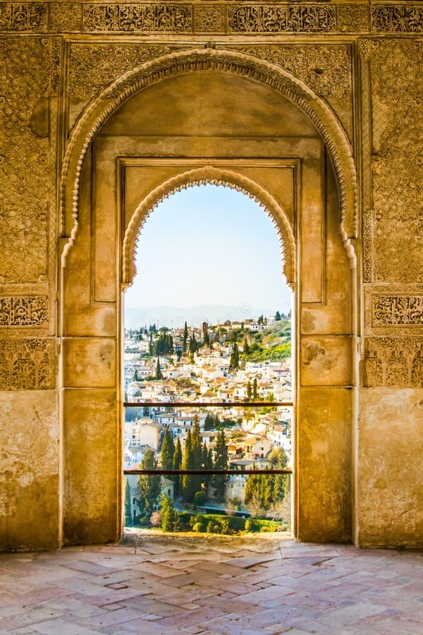 alhambra widok zdjęcia stock