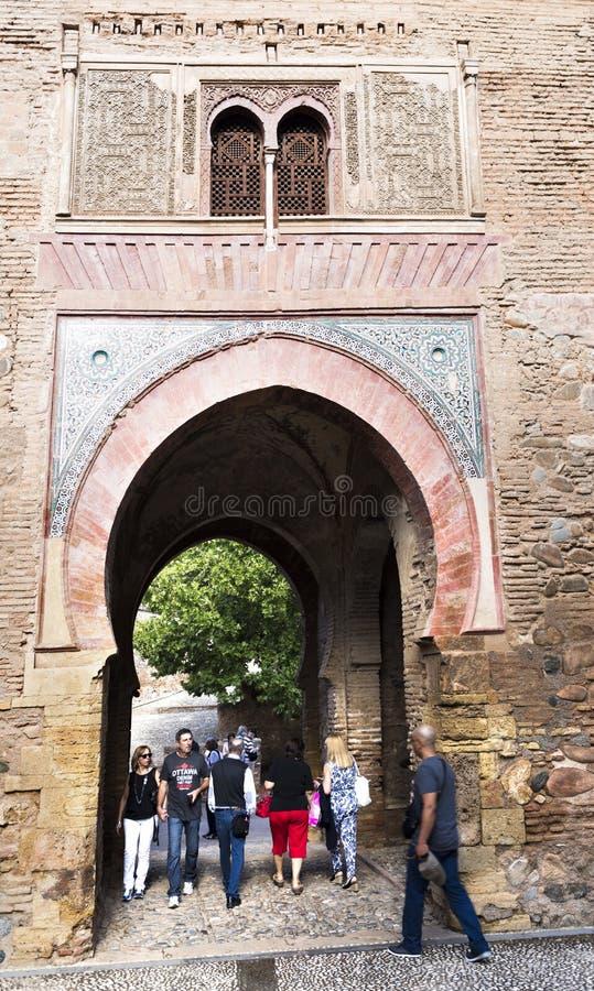 Alhambra wina brama zdjęcie stock