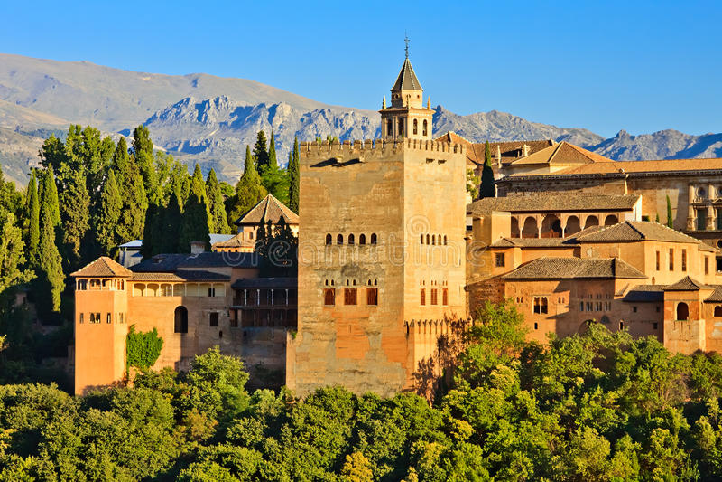 alhambra zmierzch obrazy royalty free
