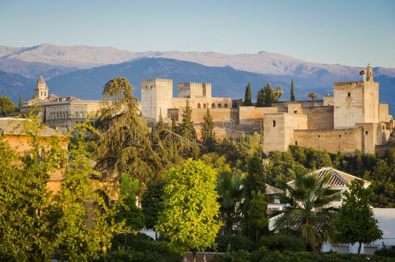 Alhambraen i Granada, Andalusia, Spanien arkivfoto