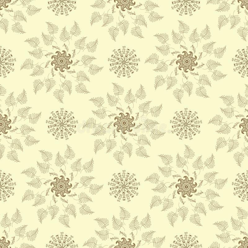 Alheña inconsútil del arte de Mehendi de la textura imágenes de archivo libres de regalías