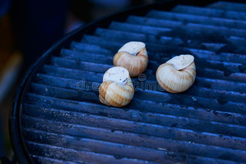 Alho assado dos caracóis do escargot fotografia de stock
