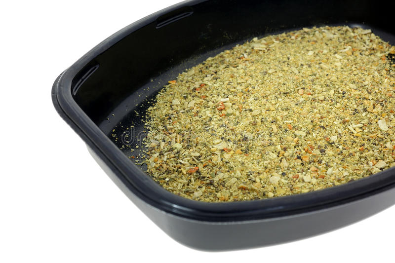 Alho Herb Seasoning Black Tray imagem de stock