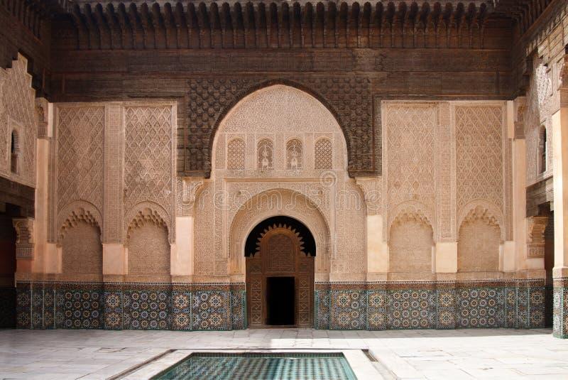 Ali Ben Youssef Madrasa photos stock