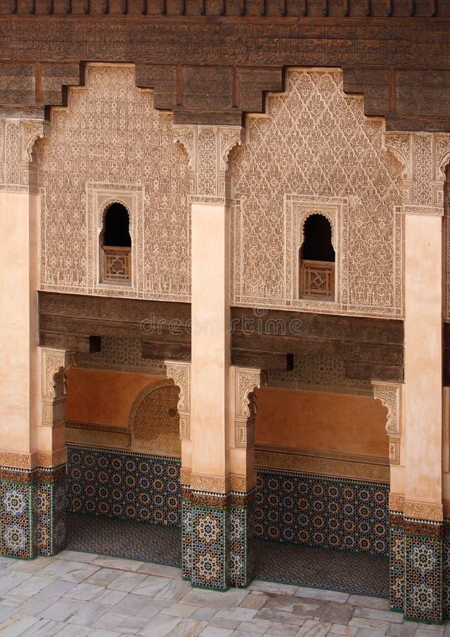 Download Ali Ben Youssef Madrasa stock image. Image of door, university - 11325743