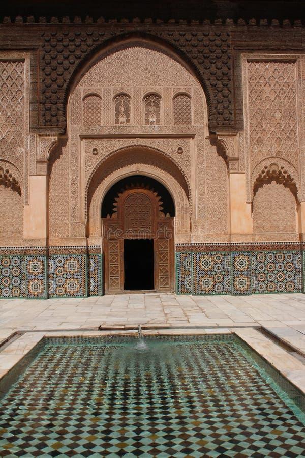 Download Ali Ben Youssef Madrasa stock image. Image of closed - 27262509