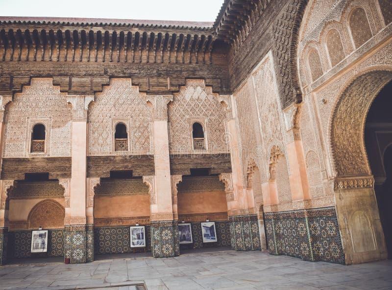 Ali Ben Youssef Madrasa, C4marraquexe, Marrocos fotos de stock