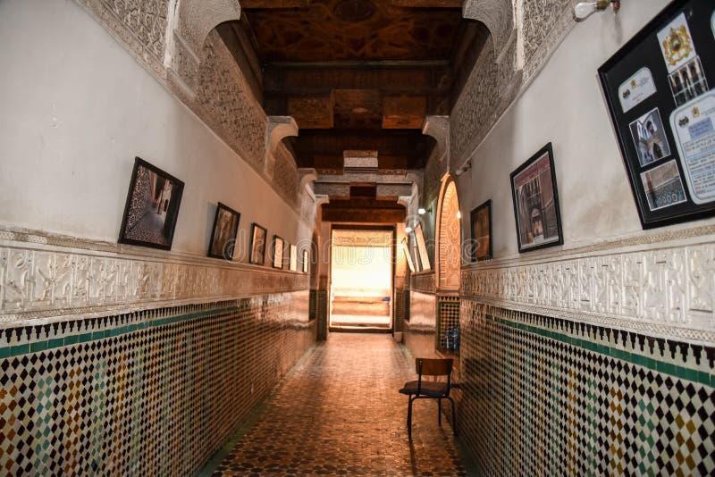 Ali Ben Youssef Madrasa, Marrakech, Maroc images stock