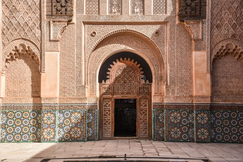 Ali Ben Youssef Madrasa, Marrakech, Morocco royalty free stock images
