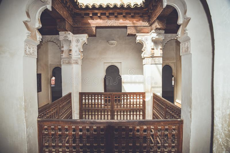Ali Ben Youssef Madrasa, Marrakech, Morocco stock image