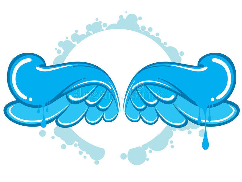 Ali blu illustrazione di stock