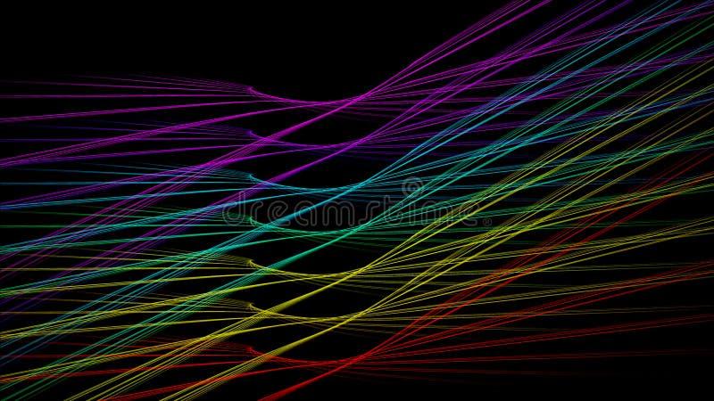 Ali del colpo della luce del fondo dell'arcobaleno illustrazione di stock